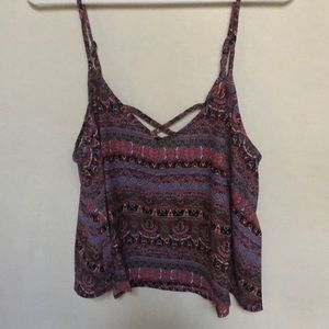 Forever 21 colorful paisley tank